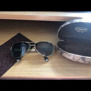 Coach aviator prescription sunglasses set